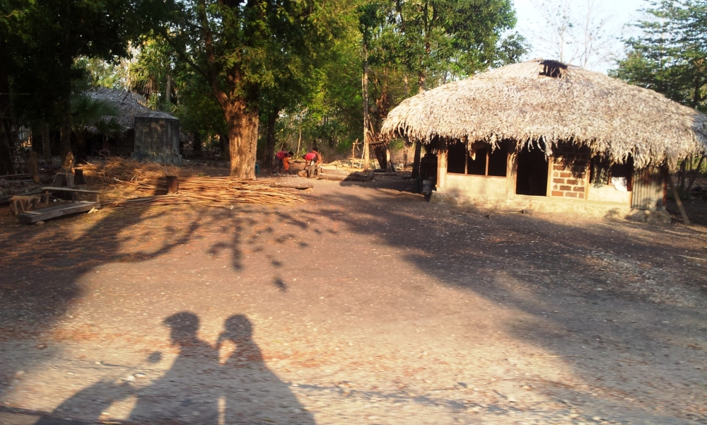 salah satu rumah penduduk pengungsi